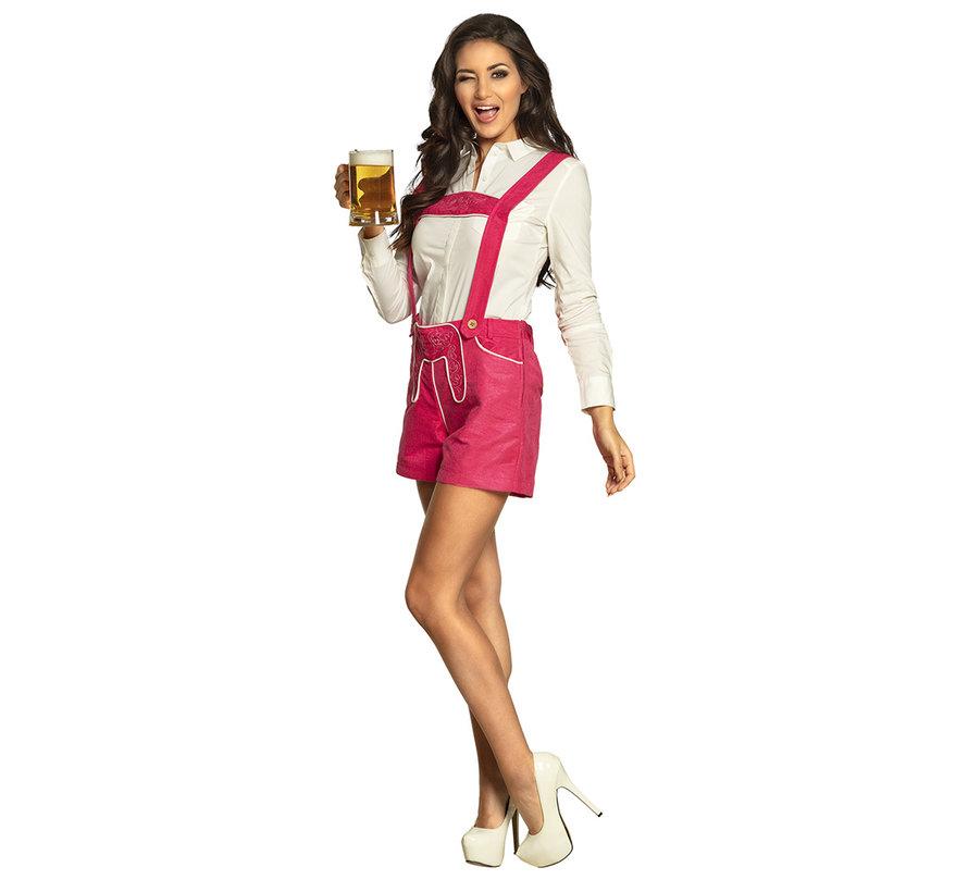 Tiroler lederhose dames roze
