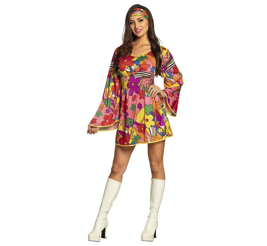 Hippie Bloemen jurkje met haarband