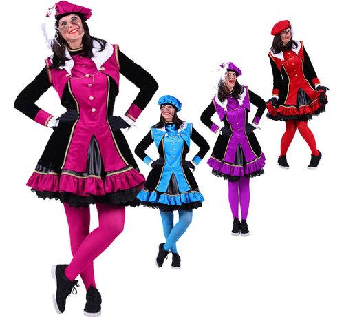 luxe dames pietenpak pink/zwart