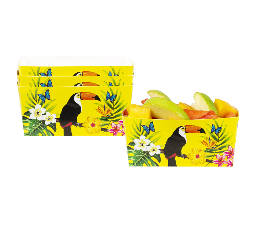 Kartonnen bakjes toucan vogel