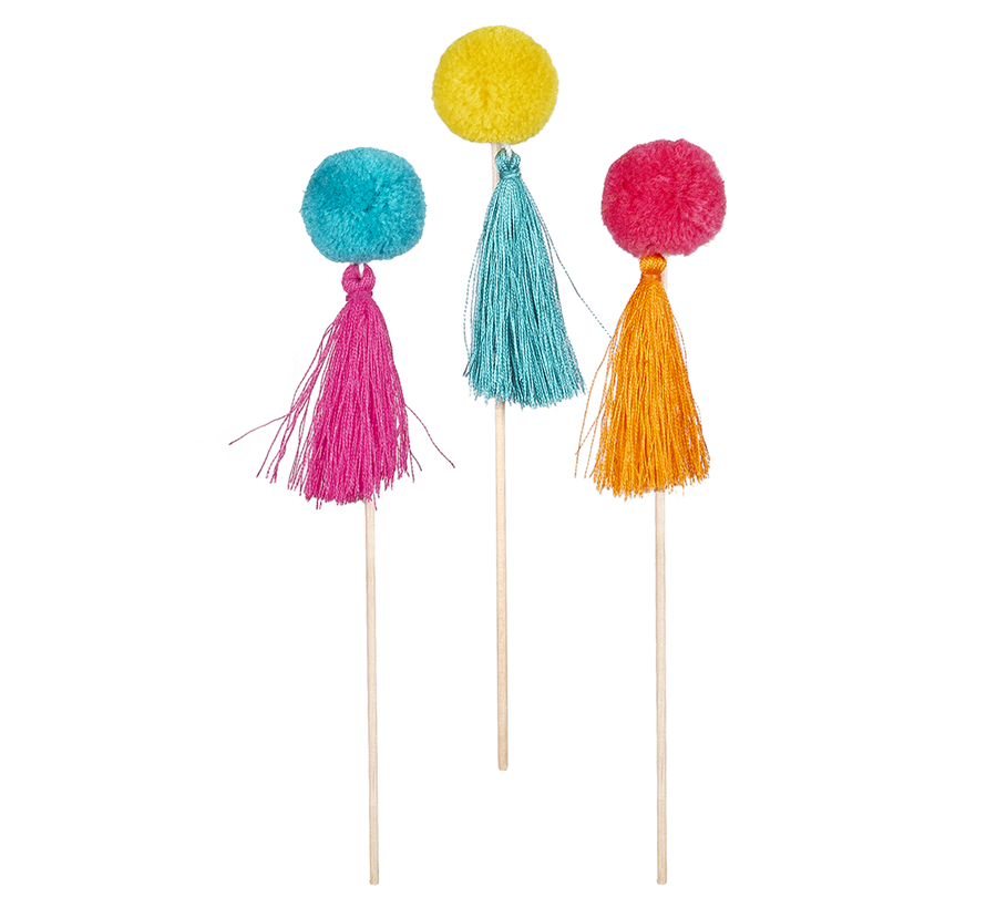 Gekleurde cocktailprikkers lama kopen