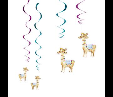 Swirl hangdecoratie lama
