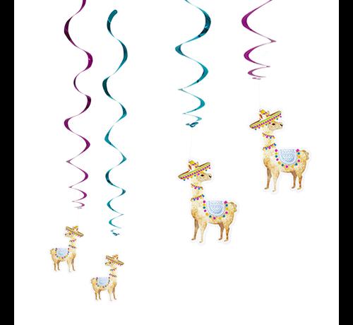Swirl hangdecoratie lama multicolor