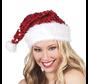 Kerstmuts Pailletten rood kopen