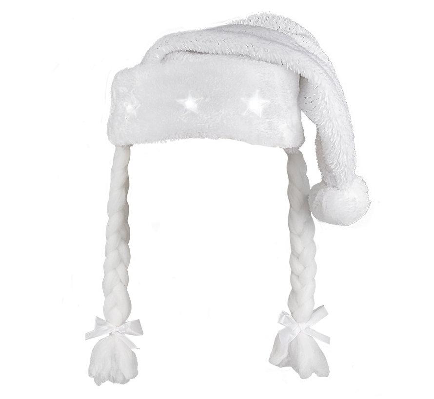 Kerstmuts Vlechten wit kopen
