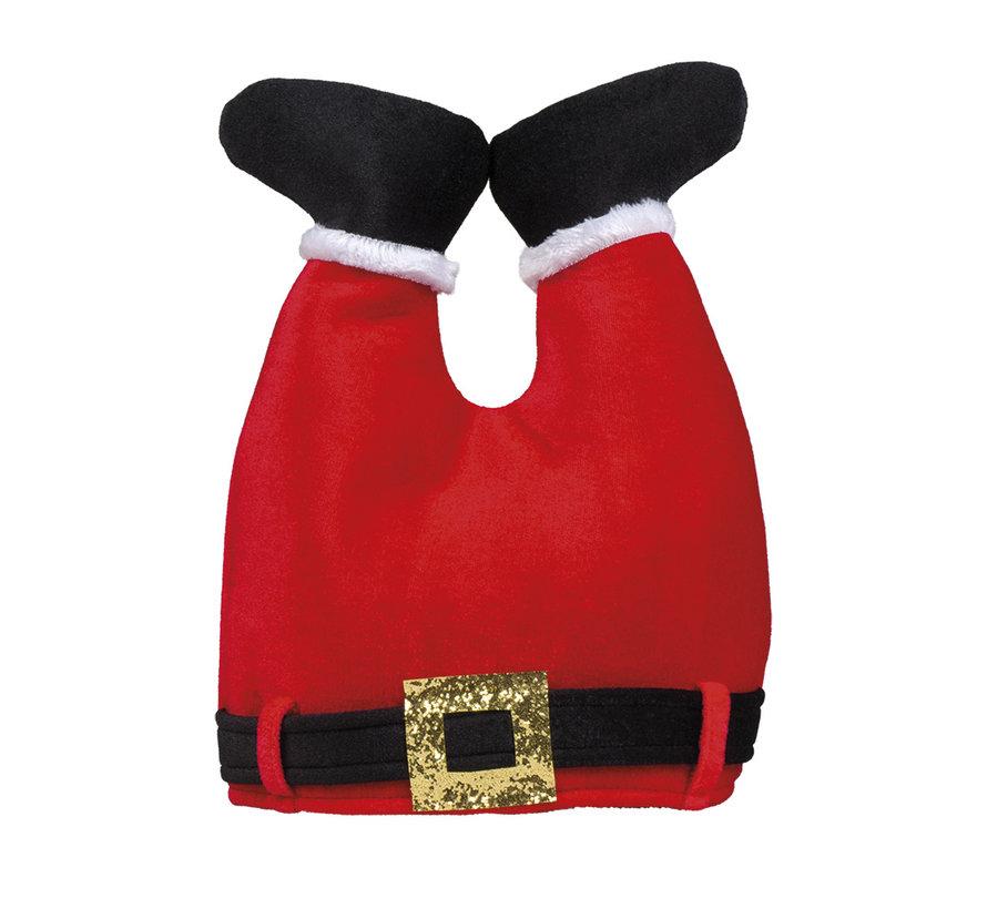 Foute kerstmuts broek rood