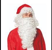Kerstman baard met pruik