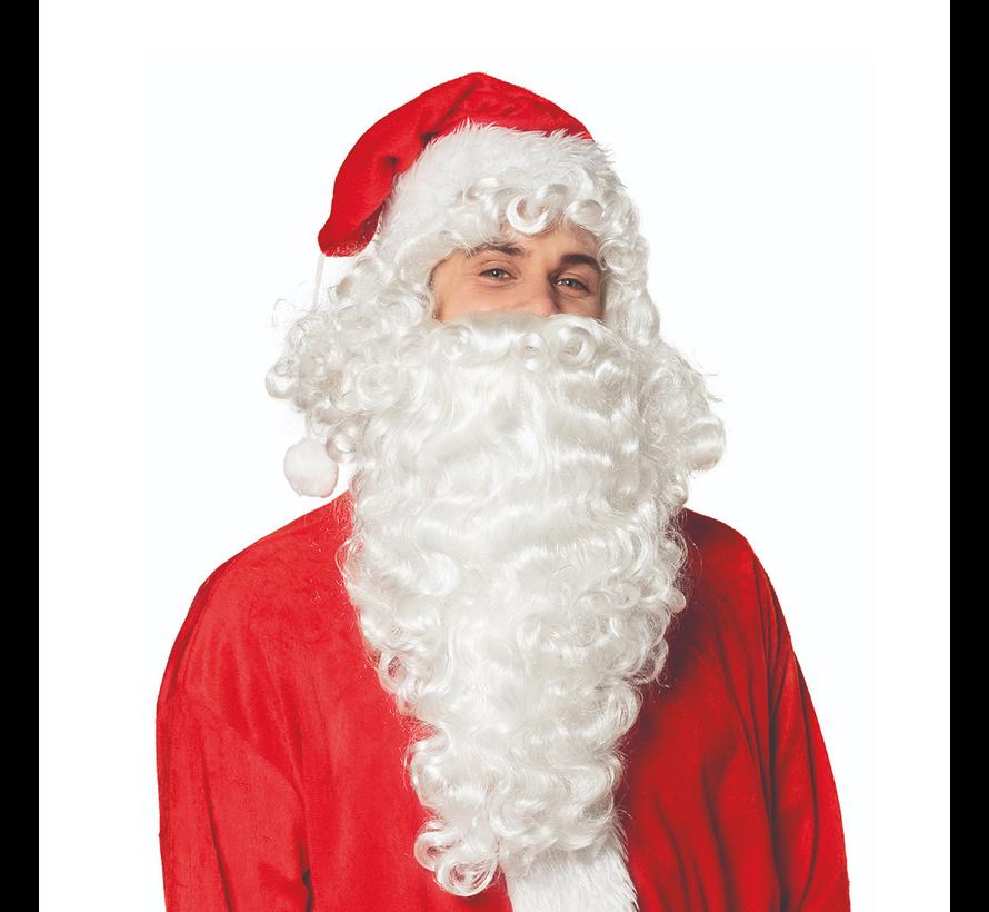 Kerstman baard met pruik set