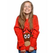 Foute kersttrui kind rood