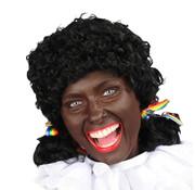 Zwarte pieten pruik dames