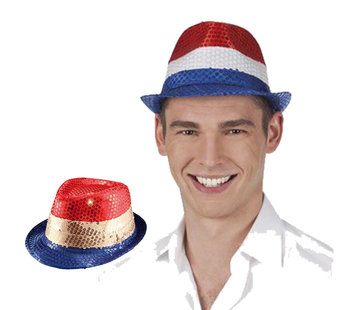 Rood wit blauwe hoed
