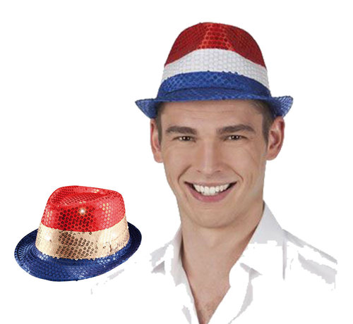 Rood wit blauw hoed voor volwassenen