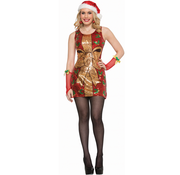 Kerstvrouw met gouden strik