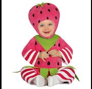 Aardbei kostuum baby