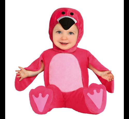 Roze Flamingo pakje baby