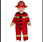 Brandweer kostuum baby