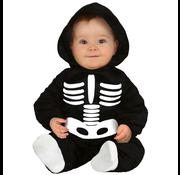 Baby skelet kostuum