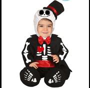 Skelet baby kostuum