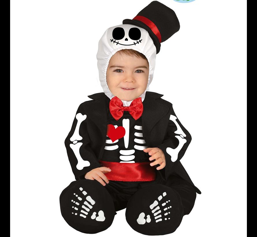 Skelet baby kostuum pakje