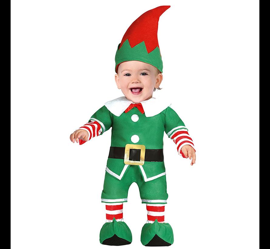 Baby elfen kerst kostuum