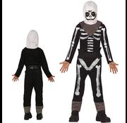 Fortnite skelet kostuum kind