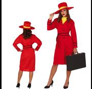 Rood detective kostuum