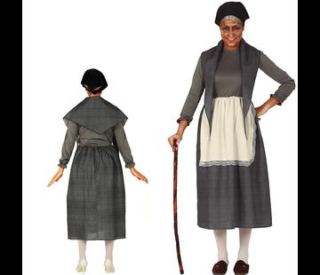 Bejaarde kostuum dames