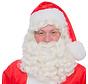 Kerstman baardstel met vaste snor