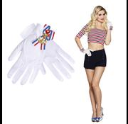 Witte handschoenen marine