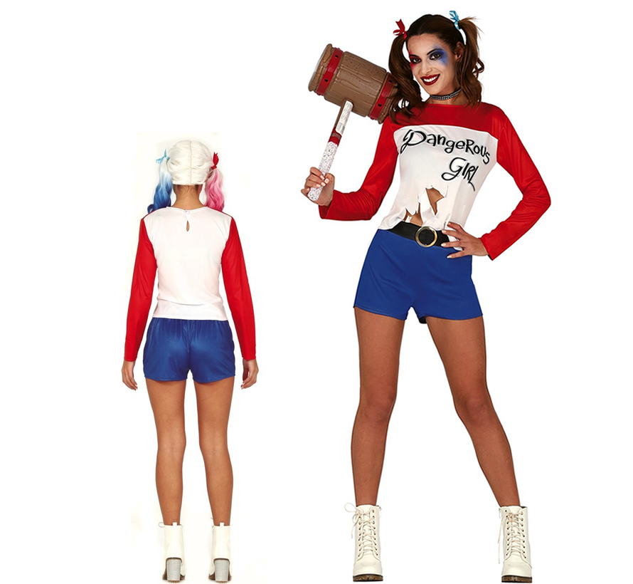 Harley quinn kostuum dames