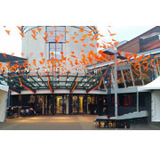 Oranje vlaggenlijnen 480 meter
