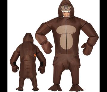 Opblaasbare gorilla kostuum