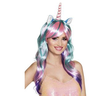 Unicorn Pruik Princess Meerkleurig
