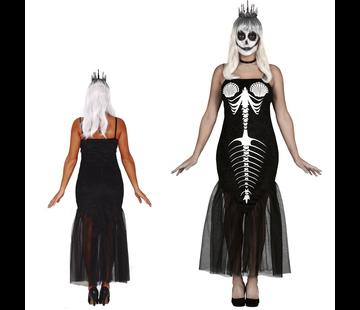 Skelet zeemeermin kostuum