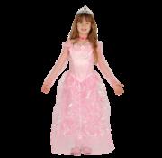 Prinsessenjurk roze in kindermaten