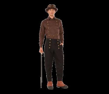 Steampunk bruin heren shirt