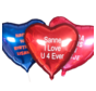 Bedrukt hartje folieballon