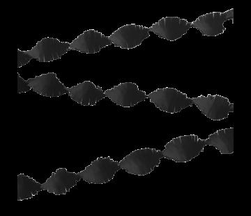 Crêpe papier slinger zwart