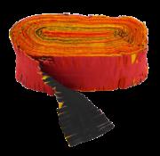 Brandvertragende crêpe slinger rood geel zwart