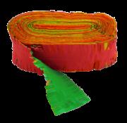 Brandvertragende crêpe slinger rood geel groen