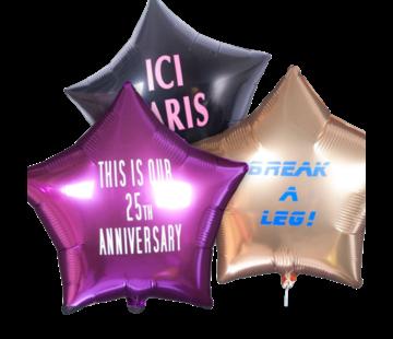 Bedrukte folie ballon 'Ster' (met helium)