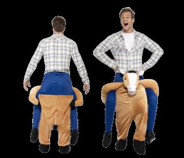 Gedragen door paard kostuum