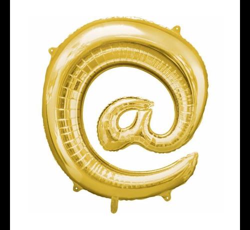 Apenstaart folie ballon goudkleurig