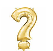 Vraagteken folie ballon goud