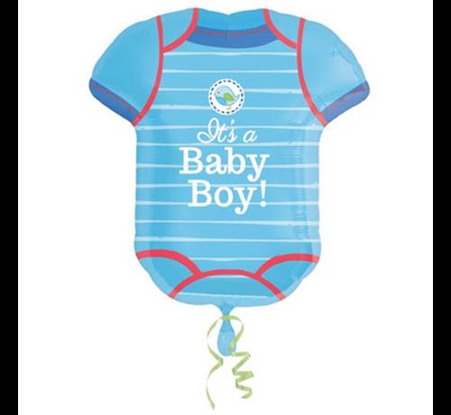 Helium ballon geboorte zoon romper