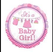 Baby ballon roze
