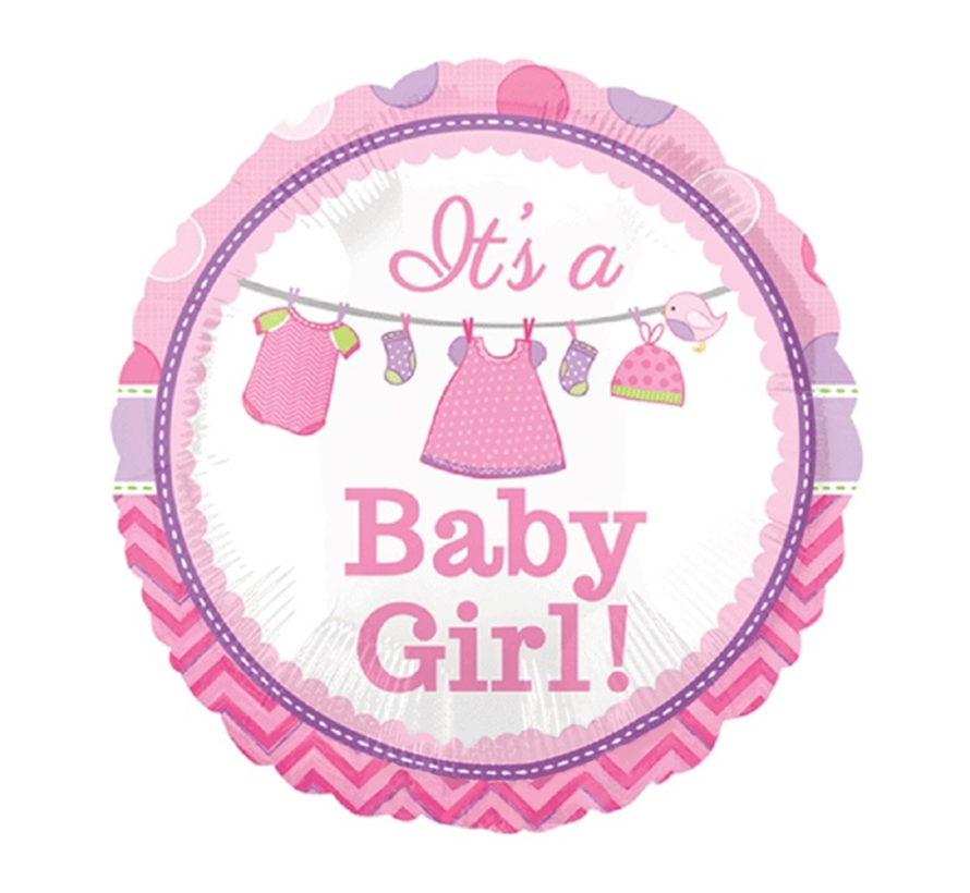 Baby ballon roze baby girl