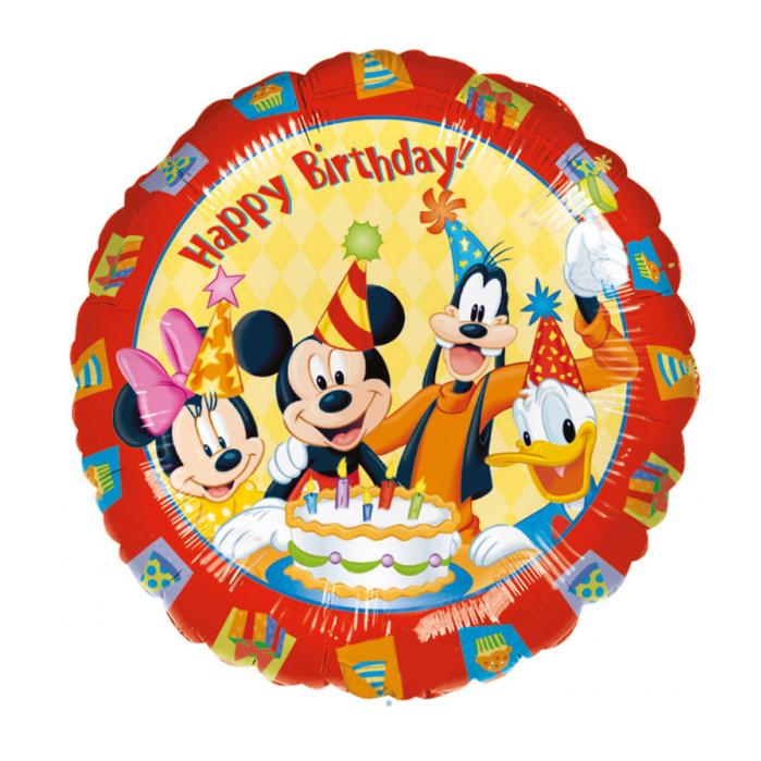 folieballon mickey mouse happy birthday  partycornernl