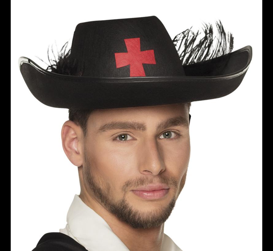 Templar hoed zwart kopen
