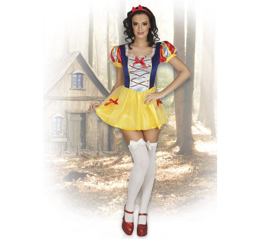 Kort dames Sneeuwwitje kostuum